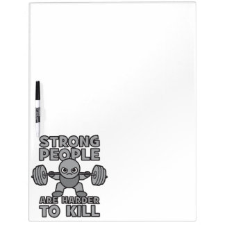 Workout - Strong People Are Harder To Kill, Kawaii Dry-Erase Board