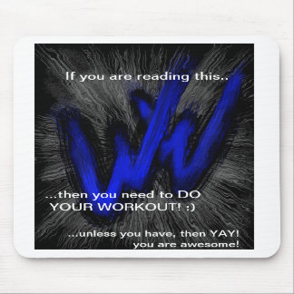Workout Warrior Mousepad! Mouse Pad