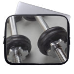 Workout weights laptop computer sleeves