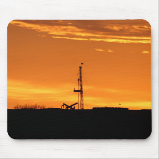 Workover Rig at Sunset Mousepad