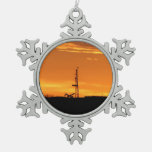 Workover Rig at Sunset Ornament