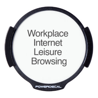Workplace Internet Leisure Browsing.ai LED Window Decal