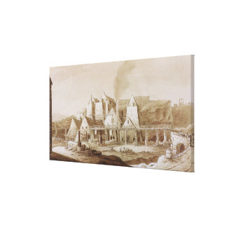Works at Blaenavon, from 'An Historical Tour in Mo Stretched Canvas Prints