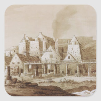 Works at Blaenavon, from 'An Historical Tour in Mo Square Sticker
