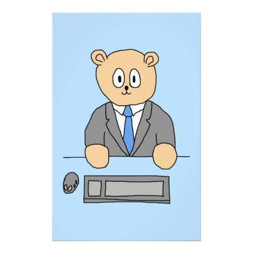 """Works in an Office. Blue Tie. 5.5"""" X 8.5"""" Flyer"""
