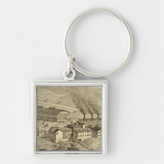 Works of Central Glass Company in West Virginia Keychain