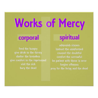 Works of Mercy Poster customizable graphic art