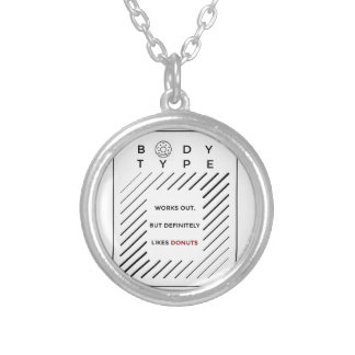Works Out Loves Donuts Silver Plated Necklace