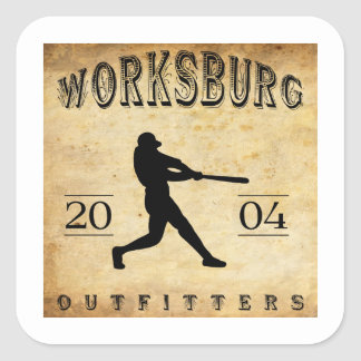 Worksburg Outfitters Baseball #1 Square Sticker