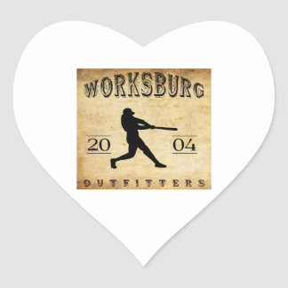 Worksburg Outfitters Baseball #1 Heart Sticker
