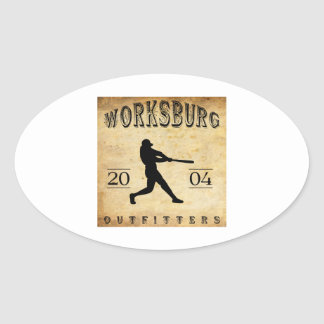 Worksburg Outfitters Baseball #1 Oval Sticker