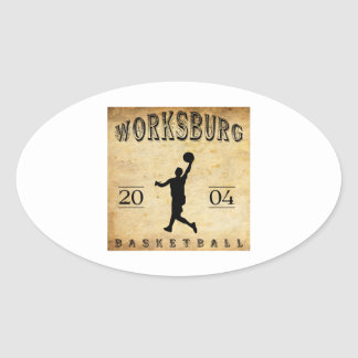 Worksburg Outfitters Basketball #1 Oval Sticker