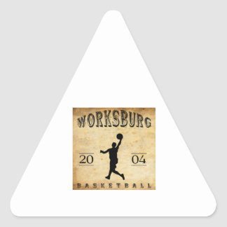 Worksburg Outfitters Basketball #1 Triangle Stickers