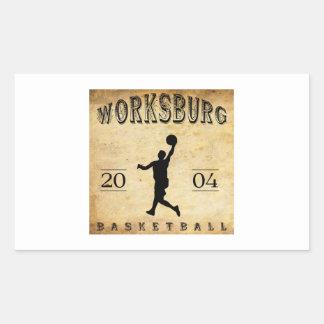 Worksburg Outfitters Basketball #1 Rectangular Sticker