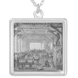 Workshop of Pleyel pianos makers Silver Plated Necklace