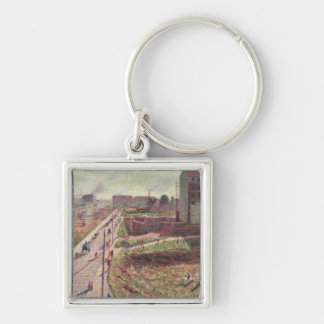 Workshops at Porta Romana, 1909 Silver-Colored Square Keychain