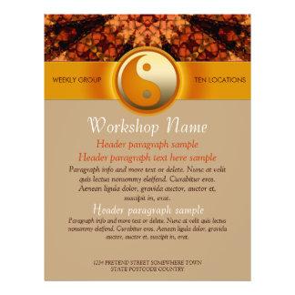 Workshops Party Events Spiritual Art flyer templat