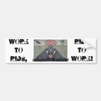 WorkToRide/RideToWork Car Bumper Sticker