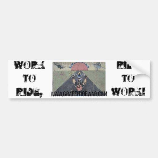 WorkToRide/RideToWork Bumper Sticker