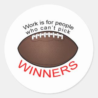 WorktshirtFootBlack Classic Round Sticker