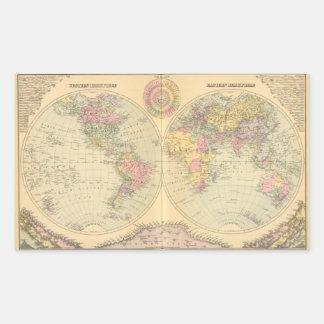 World 10 rectangular sticker