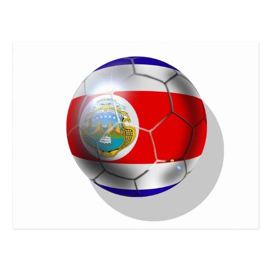 World 2014 Costa Rica flag soccer team ball Postcard