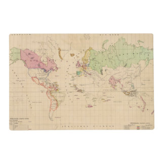 World 2 placemat