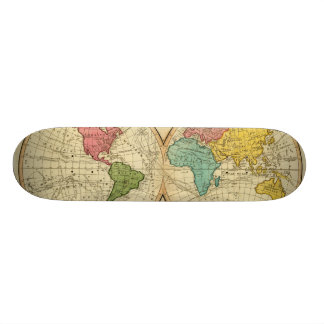 World 3 skateboard deck