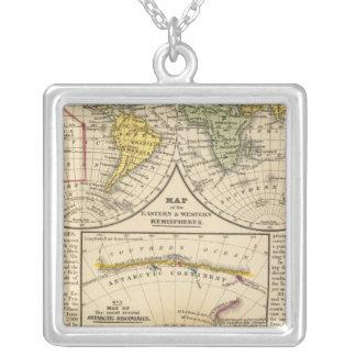 World 7 square pendant necklace