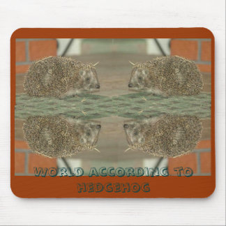 World according to hedgehog mouse pad
