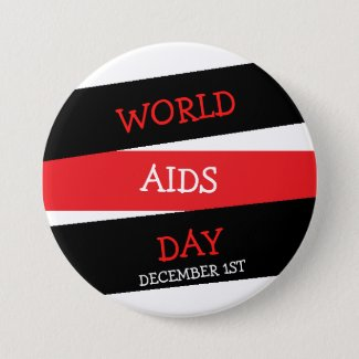 World Aids Day December 1st Button