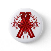 World AIDS Day, red ribbon Pinback Button