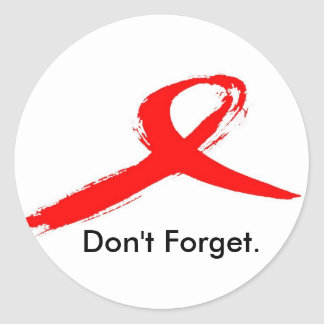World Aids Day Classic Round Sticker