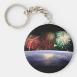 World and Fireworks Keychains