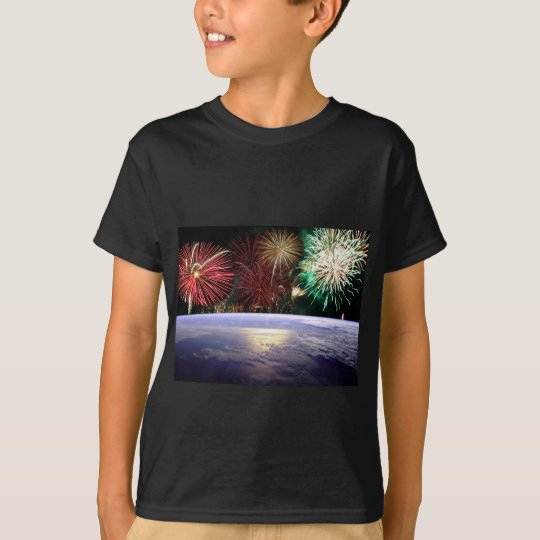 World and Fireworks T-Shirt
