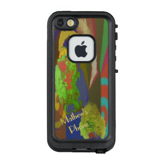 World Apart Exciting Abstract with Your Text LifeProof FRĒ iPhone SE/5/5s Case