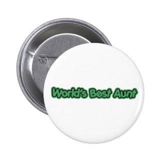 World's Best Aunt (Green) Pinback Button
