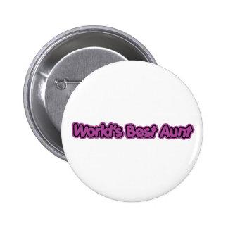 World's Best Aunt (Purple) Pinback Button