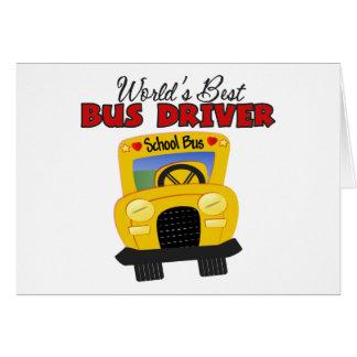 World's Best Bus Driver Card