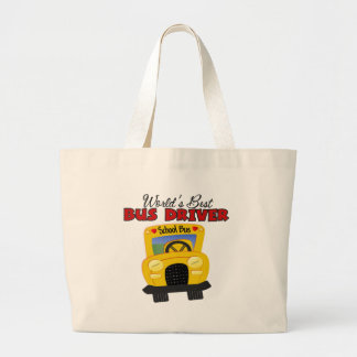 World's Best Bus Driver Large Tote Bag