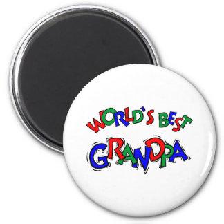 World's Best Grandpa 2 Inch Round Magnet