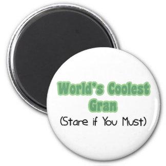World's Coolest Gran 2 Inch Round Magnet