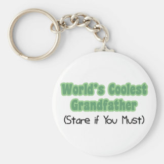World's Coolest Grandfather Keychain