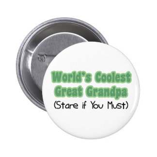 World's Coolest Great Grandpa Pinback Buttons