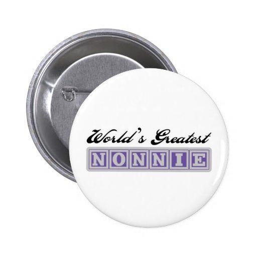 World' s el Nonnie más grande Pin Redondo 5 Cm