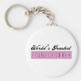 World's Greatest Bubbie Basic Round Button Keychain