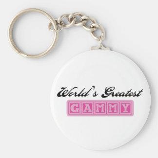 World's Greatest Gammy Basic Round Button Keychain