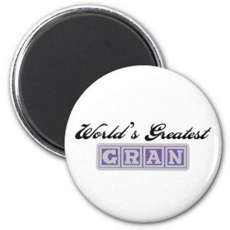 World's Greatest Gran 2 Inch Round Magnet