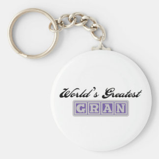World's Greatest Gran Basic Round Button Keychain