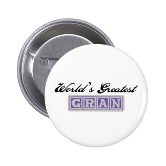 World's Greatest Gran Pinback Button